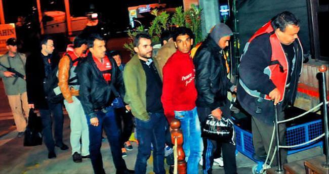 30 Suriyeli kaçak Bodrum'da yakalandı