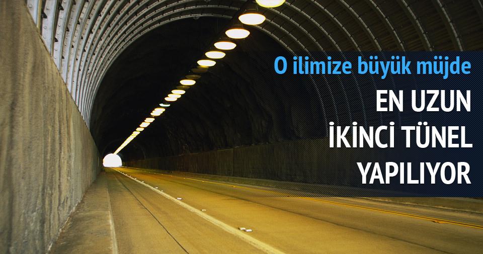 Türkiye'nin 2. büyük tüneli yapılıyor
