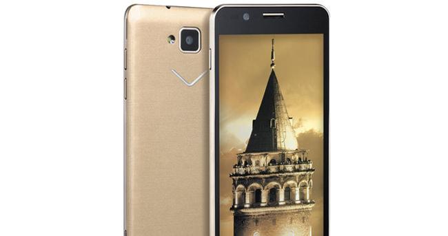 Vestel'den altın renkli telefon