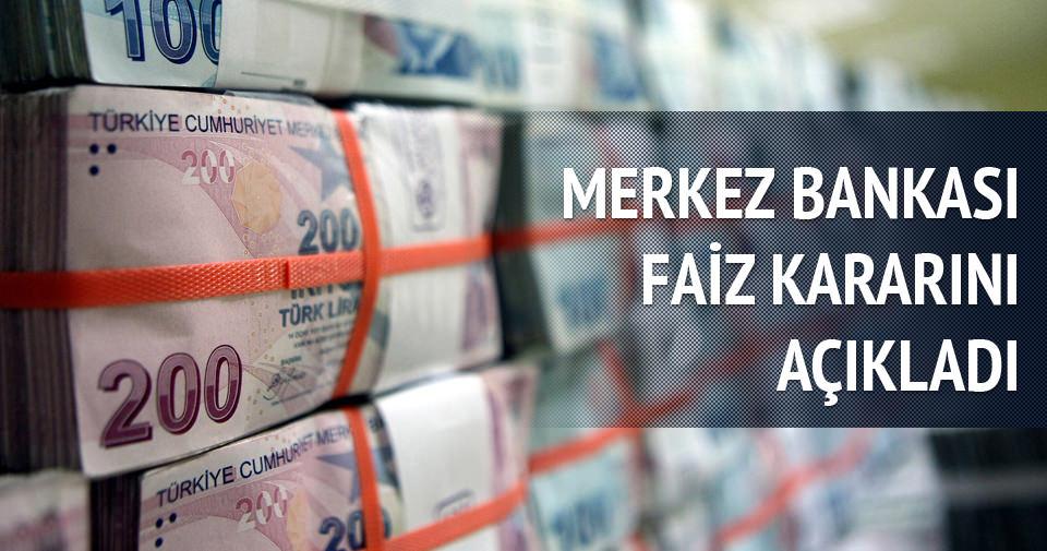Merkez Bankası'nın faiz kararını açıkladı