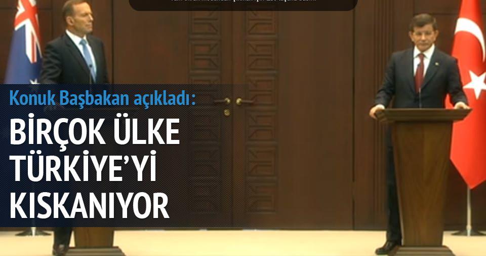 Abbot: Birçok ülke Türkiye'yi kıskanıyor