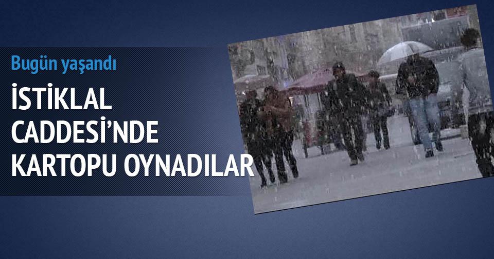 İstanbul'da dolu sürprizi