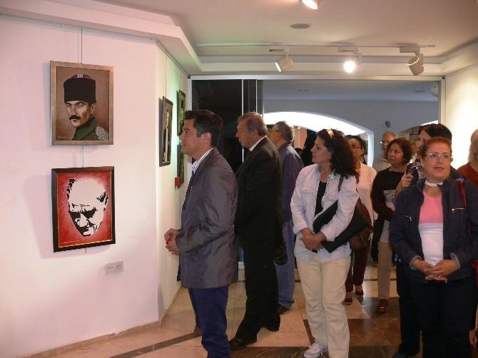 Marmaris'te 'Benim Atatürk'üm' Resim Sergisi İlgi Gördü