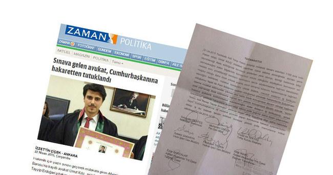 O avukatın Cumhurbaşkanına hakaretleri belgelendi