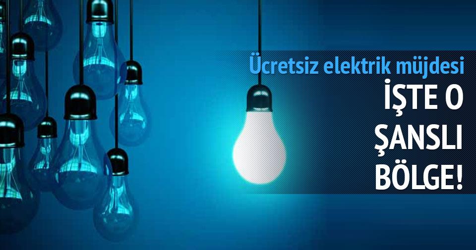 Bir ay ücretsiz elektrik müjdesi