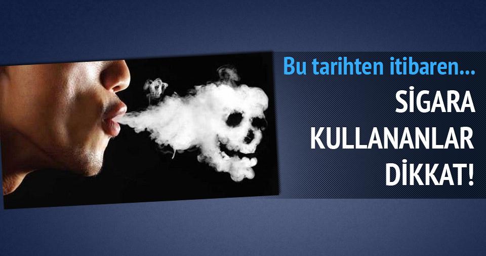 Sigara paketlerine ilişkin yönetmelikte değişiklik