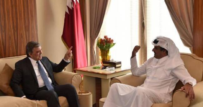 Abdullah Gül, Katar Emiri ile görüştü