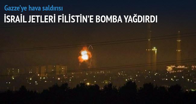 İsrail jetleri Gazze'yi bombaladı