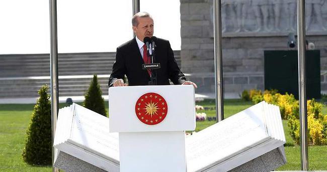 Erdoğan: Çanakkale'de yatan her genç bizim evladımızdır