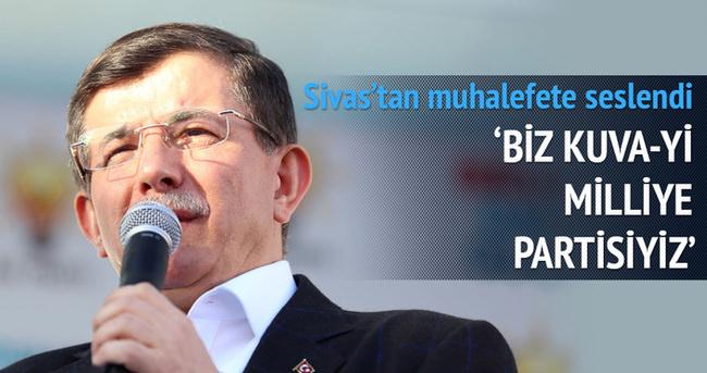Başbakan Davutoğlu Sivas'ta konuştu