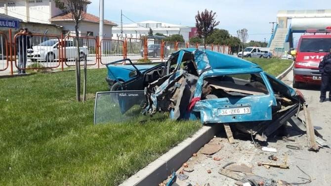 Bandırma'da Trafik Kazası: 1 Yaralı