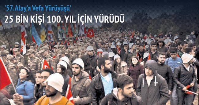 25 bin kişi, 57'nci Alay için yürüdü