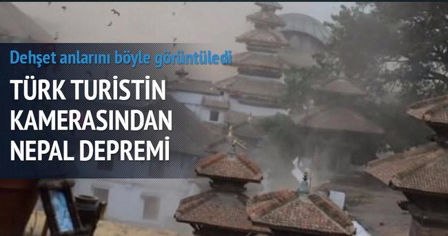 Nepal depremini Türk turist görüntüledi