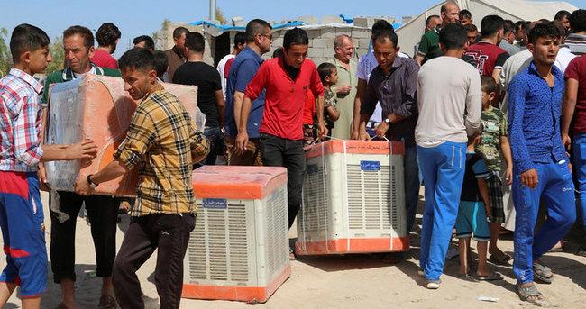 TİKA'dan Türkmen sığınmacılara yardım