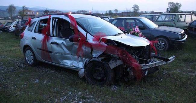 Gelin arabası kaza yaptı 7 yaralı
