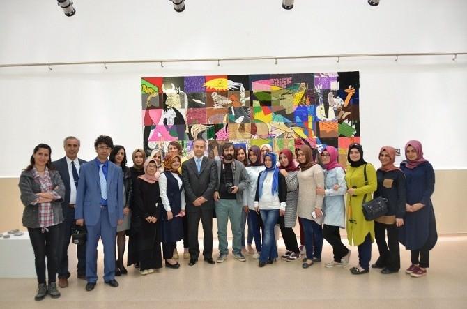 Görsel Sanatlar Eğitimi Sergisi Açıldı