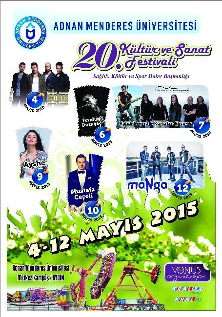 ADÜ 20. Kültür Ve Sanat Festivali Başlıyor