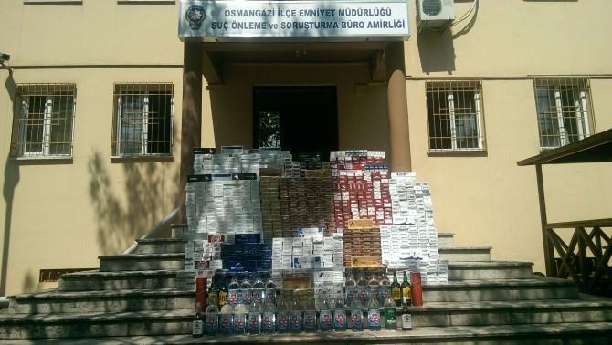 Kaçak Sigara Ve İçki Baskını