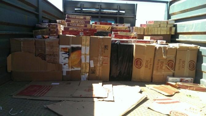 Gaziantep'te 23 Bin Paket Kaçak Sigara Ele Geçirildi