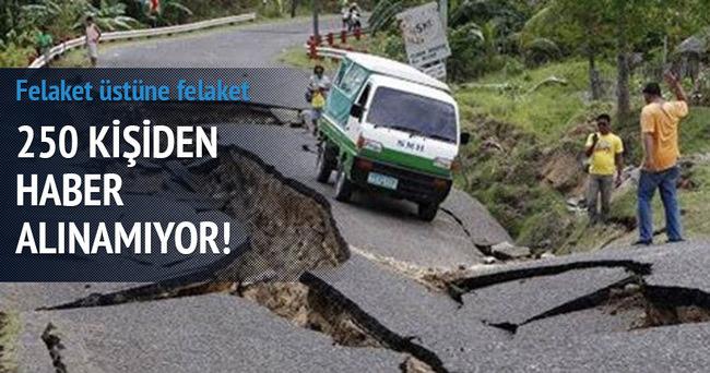 Deprem sonrası Nepal'de toprak kayması 250 kişi kayıp!
