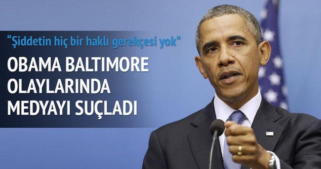 Obama: Baltimore'deki olayların haklı gerekçesi yok