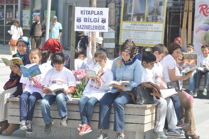 Bolu'da İlkokul Öğrencilerinden Kitap Okuma Etkinliği