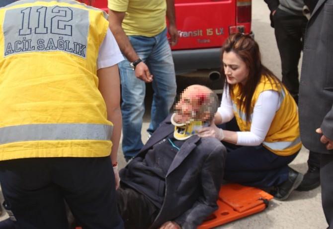 Ordu'da Minibüsün Çarptığı Yaya Yaralandı