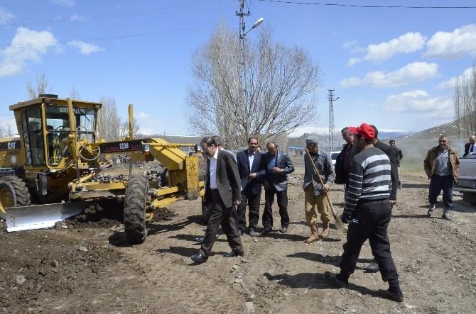 Palandöken Belediyesi Köylerde Kilit Taşı Çalışmalarına Start Verdi