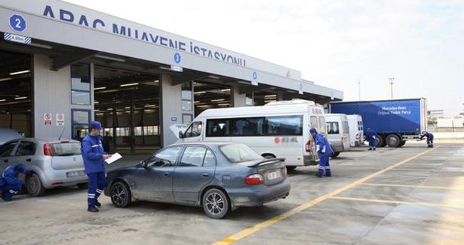 Suriye'li araçlara muayene başladı