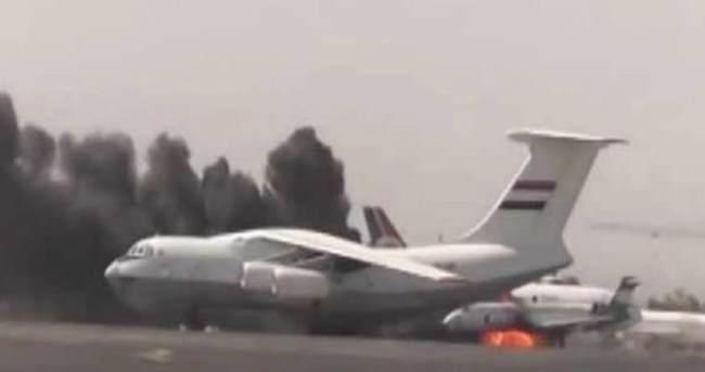 İran uçağı inmesin diye Sana Havalimanı'nı bombaladılar