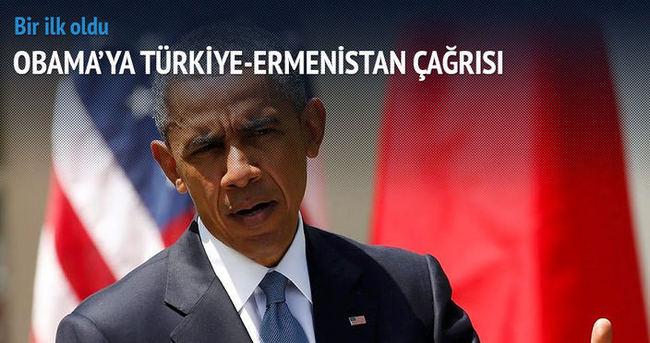 Obama'ya Türkiye-Ermenistan çağrısı