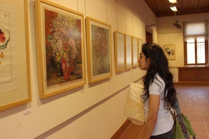 """""""Doğu'dan Gelen Esinti"""" İsimli Sergi Çağdaş Sanatlar Müzesi'nde Açıldı"""