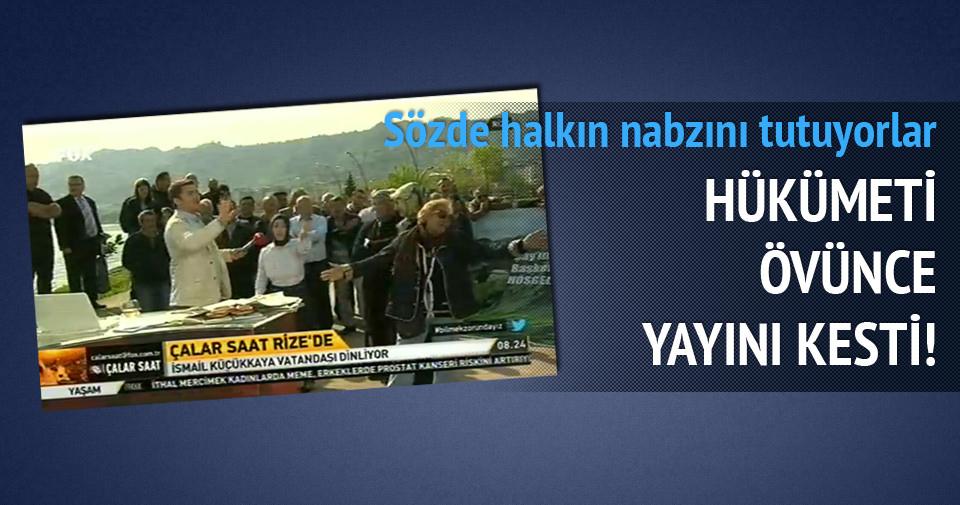 Hükümeti övünce yayını kesti!