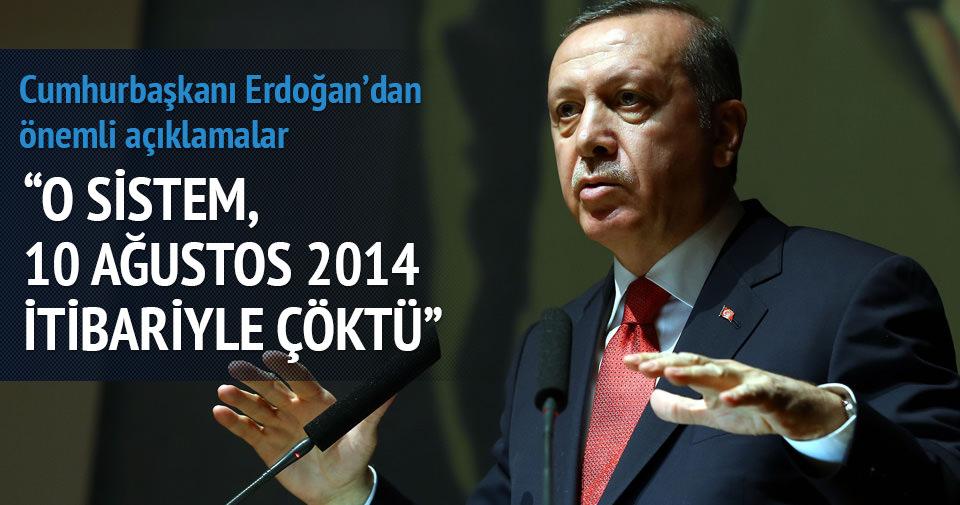 Cumhurbaşkanı Erdoğan, başkanlık sistemi hakkında konuştu