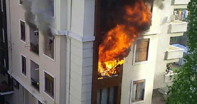Maltepe'de oksijen tüpü patladı