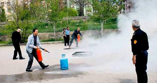 Polatlı'da yangın tatbikatı