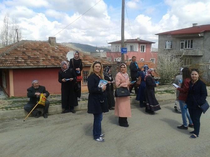 Yozgat'ta AK Partili Kadınlardan Seçim Çalışmalarına Tam Destek