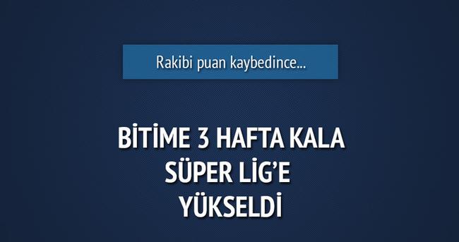 Kayserispor Süper Lig'e yükseldi