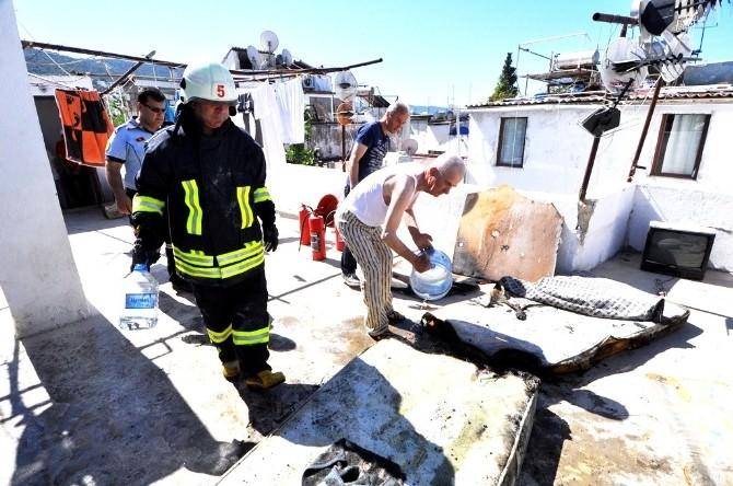 Bodrum'da Çıkan Yangın Paniğe Neden Oldu