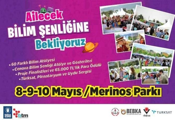 Türkiye'nin 50 İlinden Okullar Ve 30 Ünirvesite Bursa'da Bilim Şenliği'nde Buluşacak