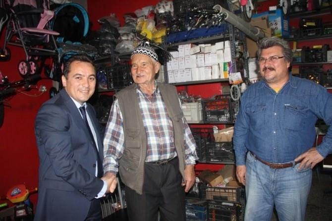 Hasan Eryılmaz Alaşehir'de Çarşı Pazar Dolaştı