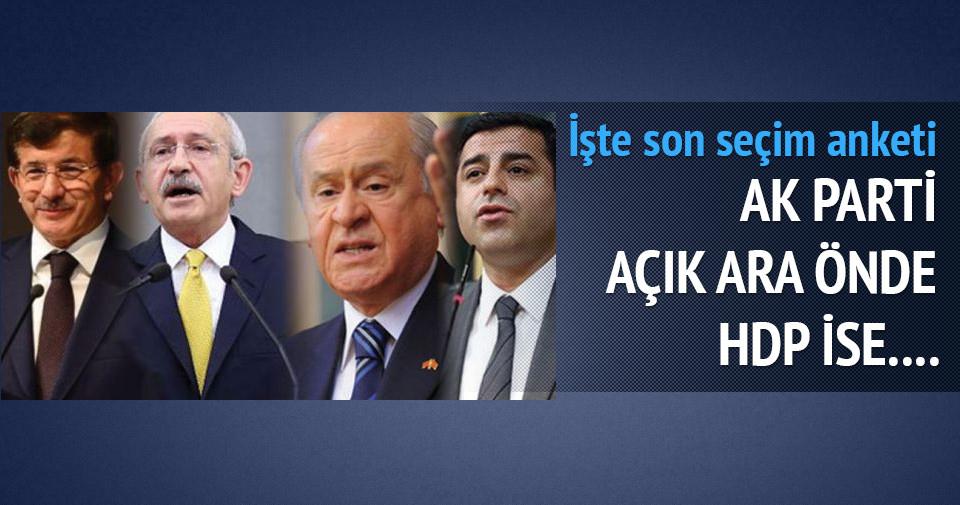 Son seçim anketinde AK Parti açık ara önde