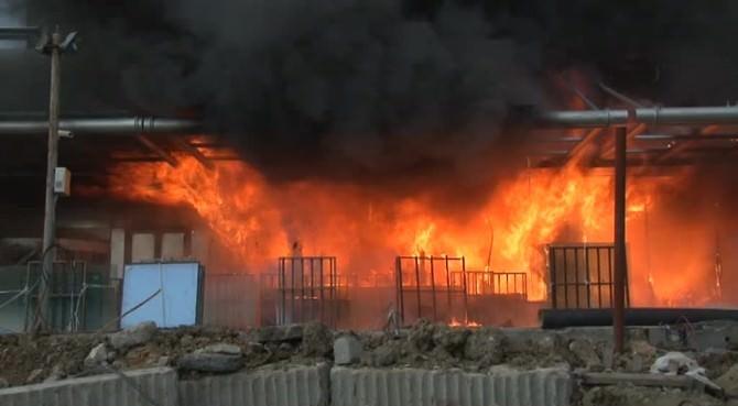 Sefaköy'de Otel Yangını