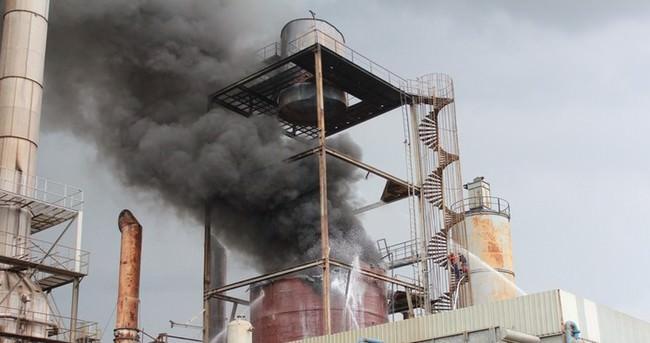 Termik santralde korkutan yangın