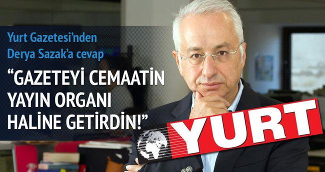 Yurt gazetesinden Derya Sazak'a sert yanıt