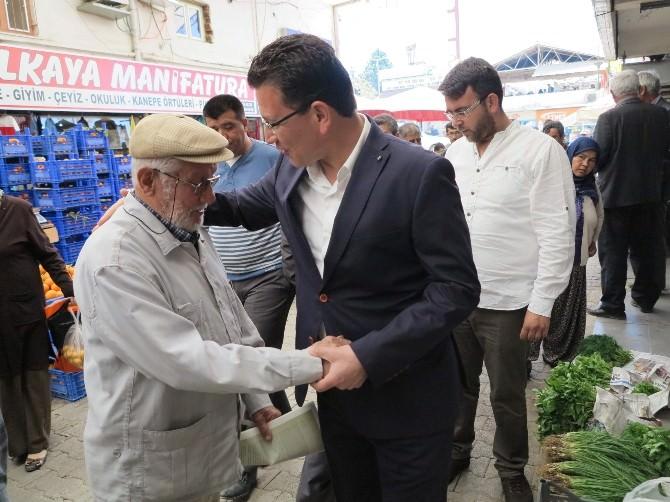 AK Parti'li Atay Uslu Elmalı Pazarında