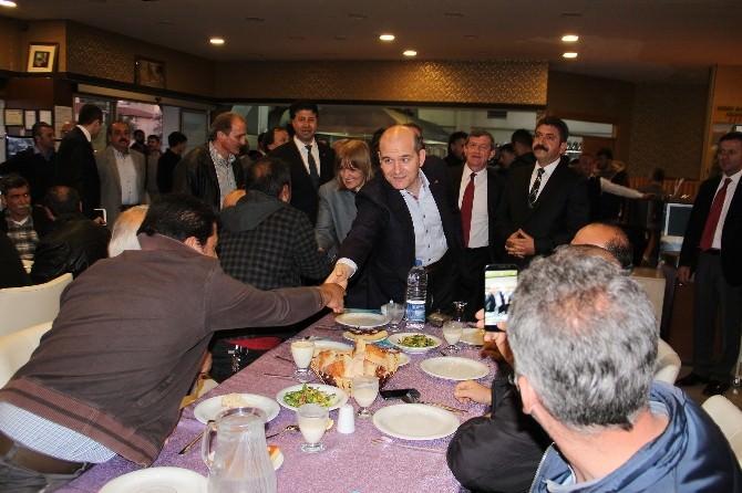 AK Parti Milletvekili Adayları Şoför Esnafı İle Yemekte Buluştu