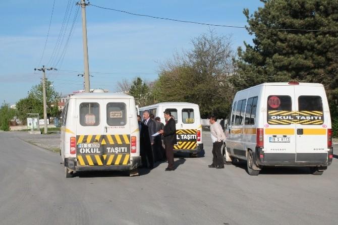Sungurlu'da Servis Minibüsleri Denetlendi