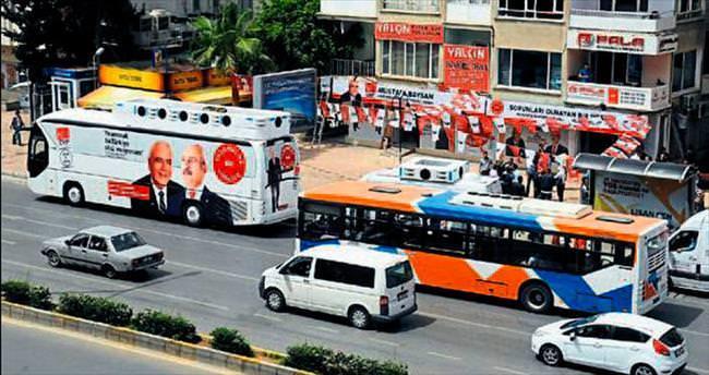 CHP'liler halkın durağını gasp etti