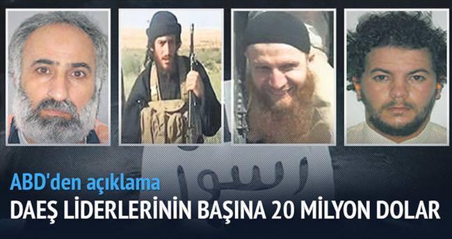ABD'den IŞİD liderlerinin başına 20 milyon dolar